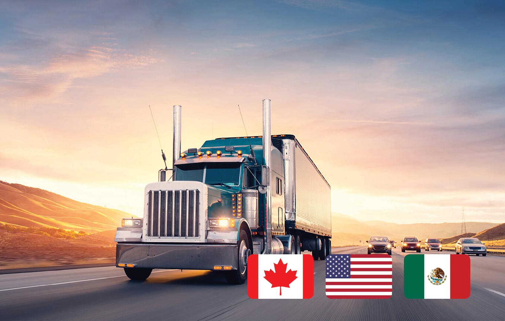 Transporte terrestre entre Canada, Estados Unidos y Mexico