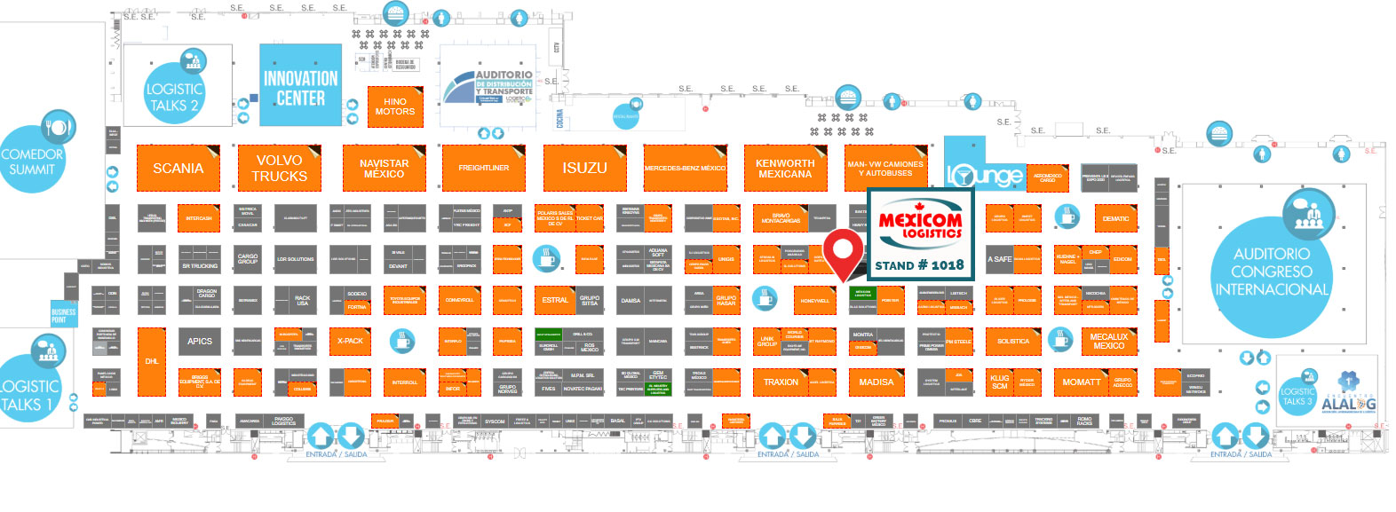 map-mexicom-logistics-logistic-summit-expo-2019 | Mexicom
