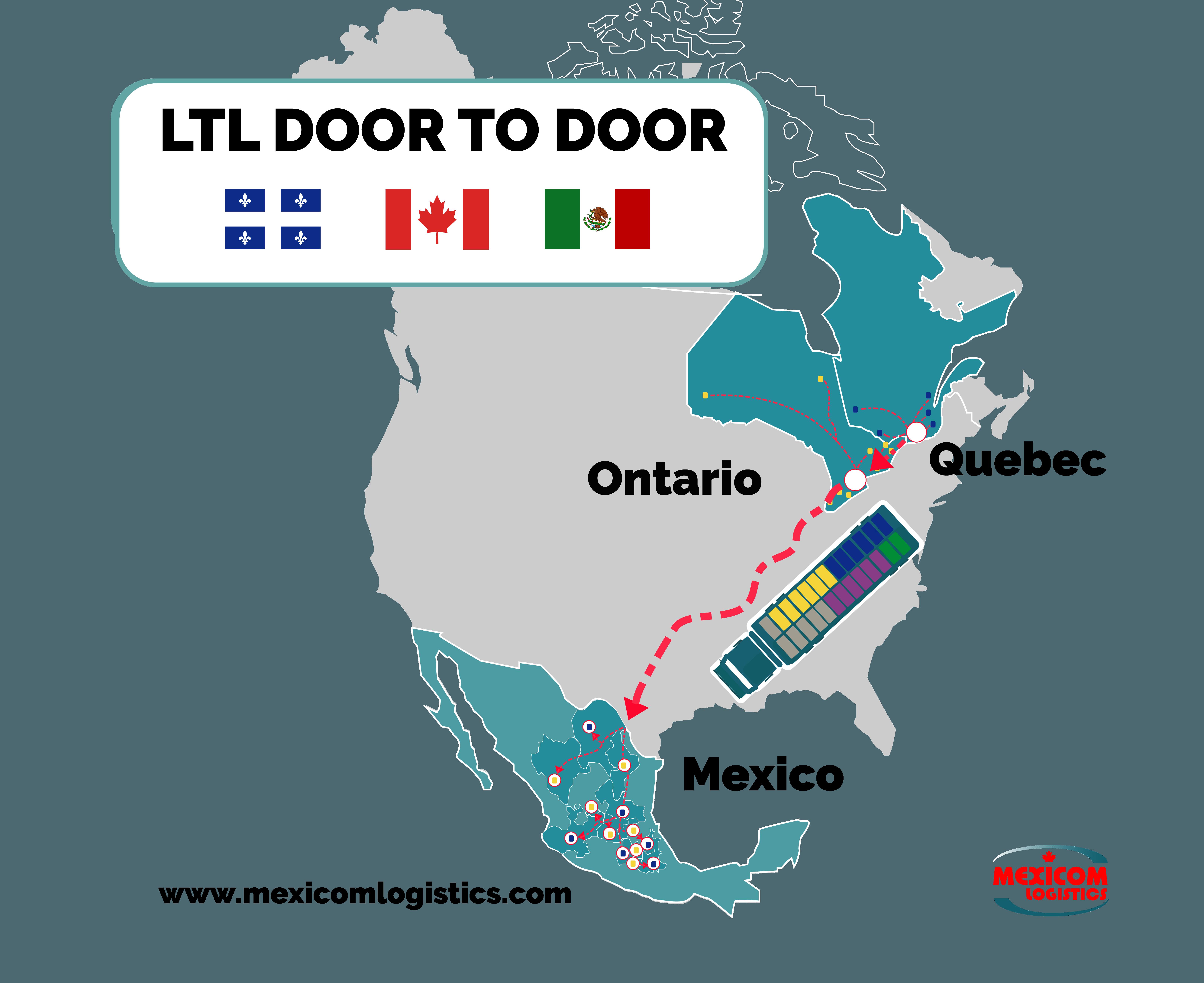 LTL Quebec Ontario Mexico - Mexicom Logistics