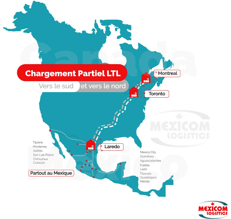 transport-en-chargement-partiel-canada-etats-unis-mexique