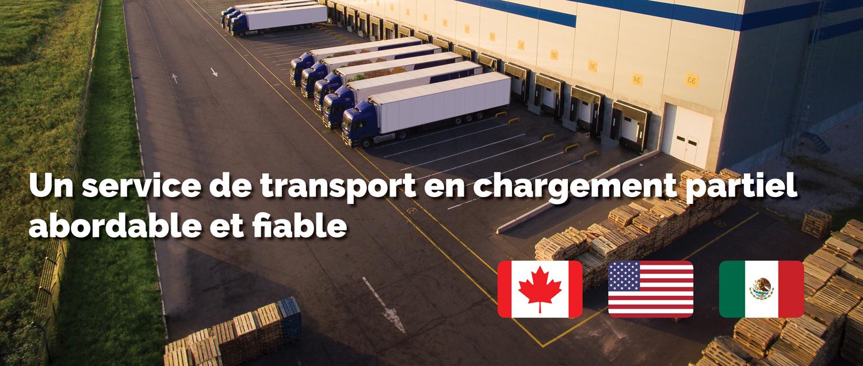 Un service de trasnport en chargement partiel abordable et fiable