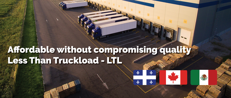 Affordable LTL freight shipments from Quebec and Ontario to Mexico