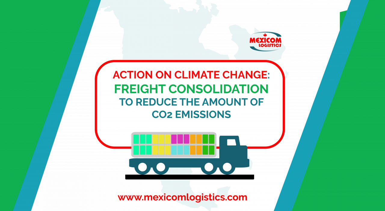Action on climate change freight consolidation to reduce the amount of CO2 emissions