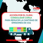 Accion por el clima: consolidar carga para reducir las emiciones de Dioxido de Carbono