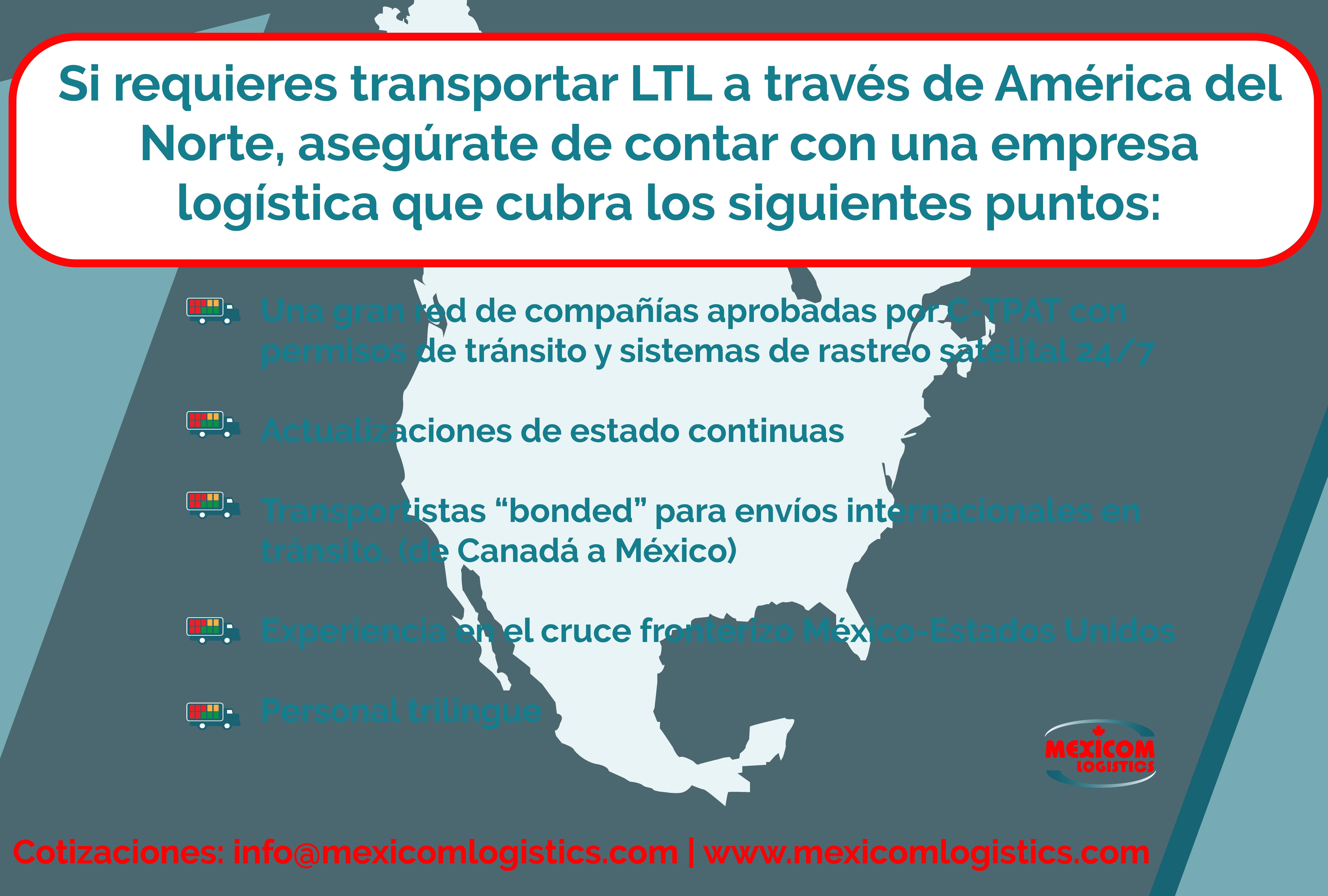 Criterios para elegir una empresa logistica de trasnporte para el trasnporte de carga consolidada