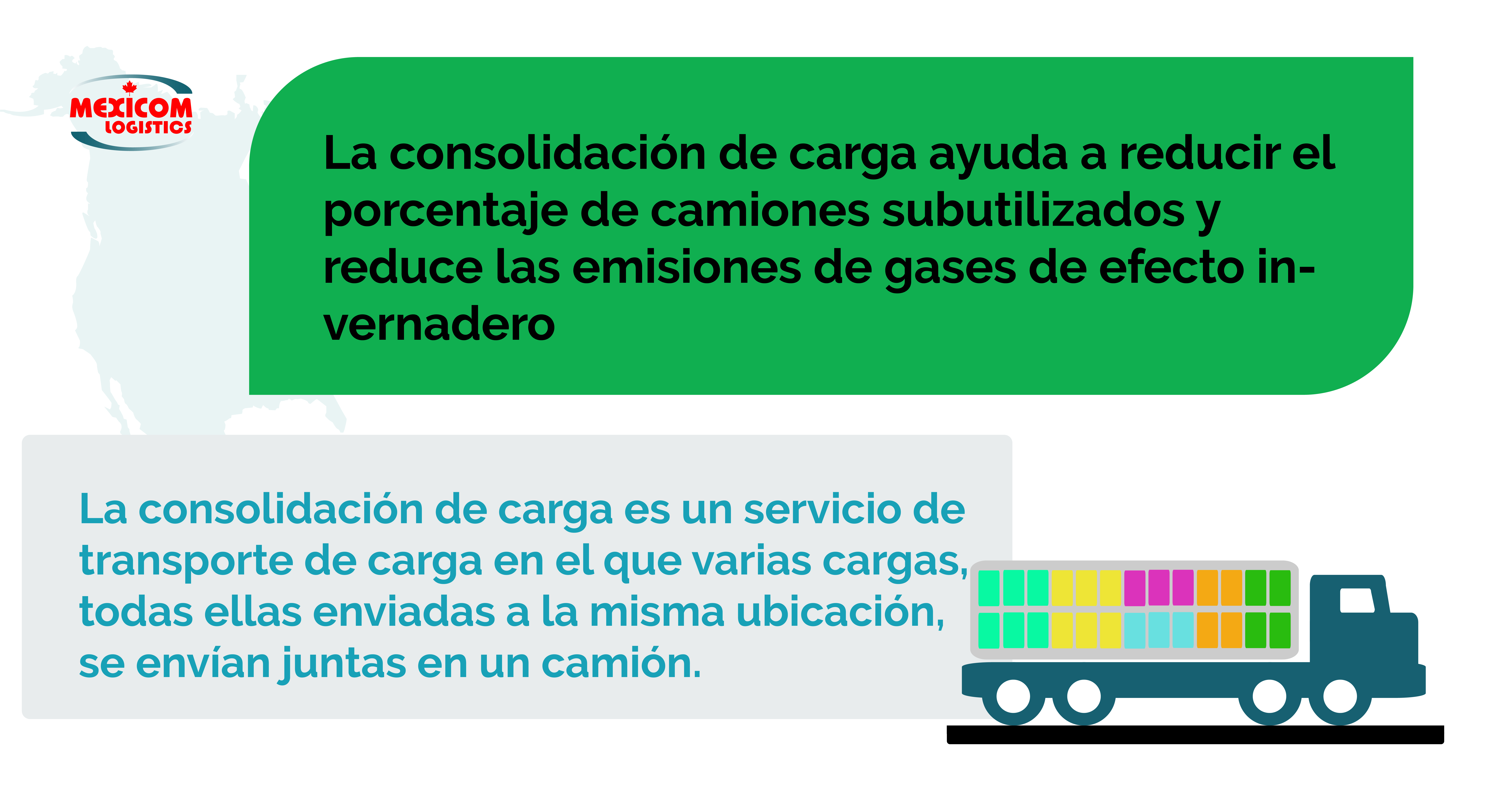 Consolidación de la carga ayuda a reducir la emision de gases de efecto invernadero