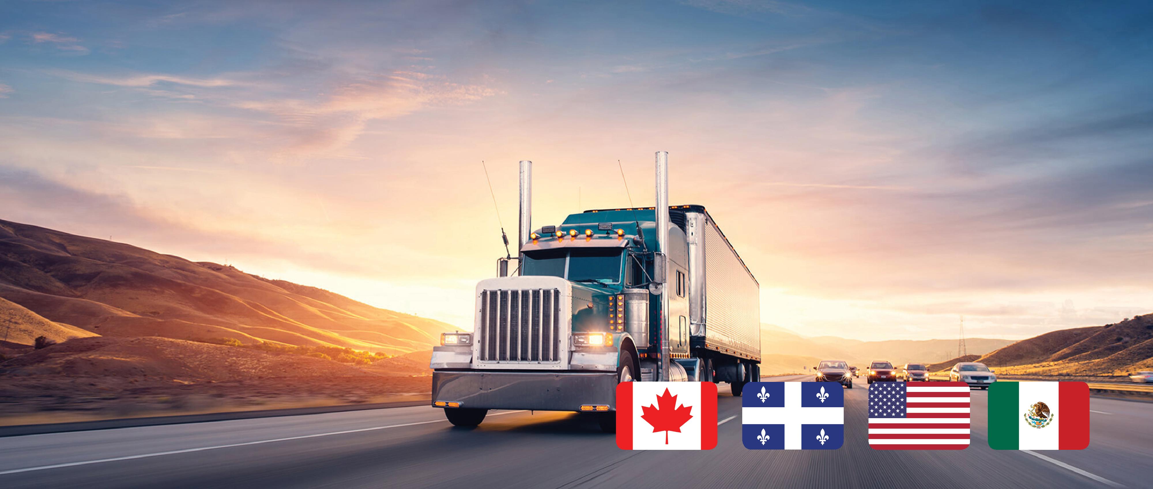 Transport de fret partout en Amerique du Nord