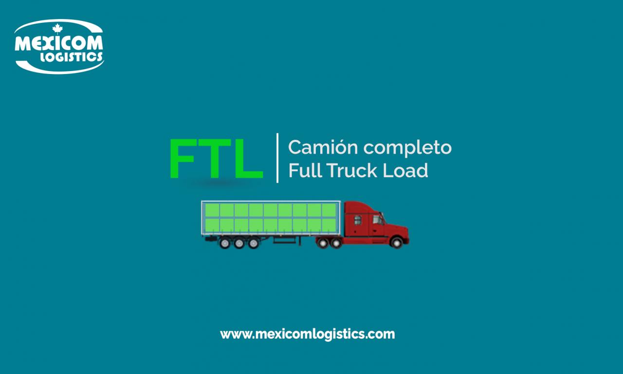 transporte de camión completo o FTL