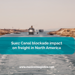 Suez Canal blockade impact on freight in North America