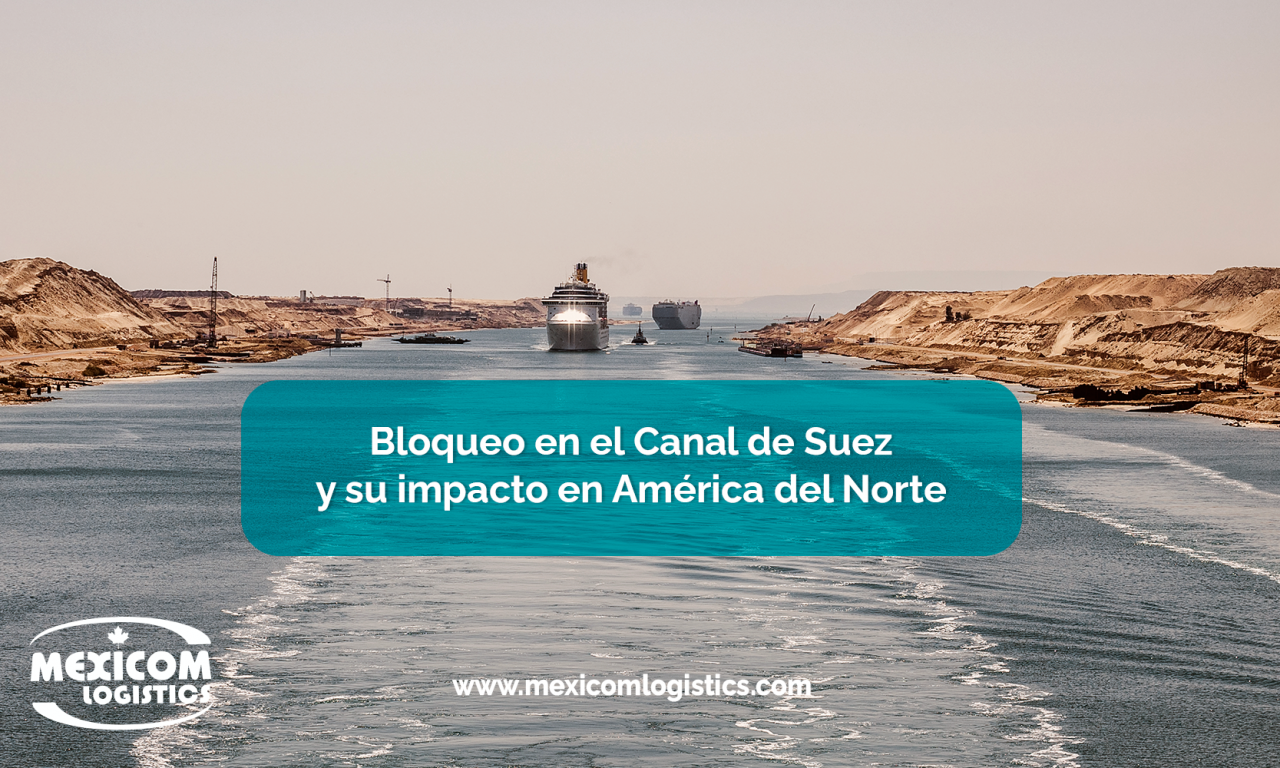Bloqueo en el Canal de Suez y su impacto en América del NorteBloqueo en el Canal de Suez y su impacto en América del Norte