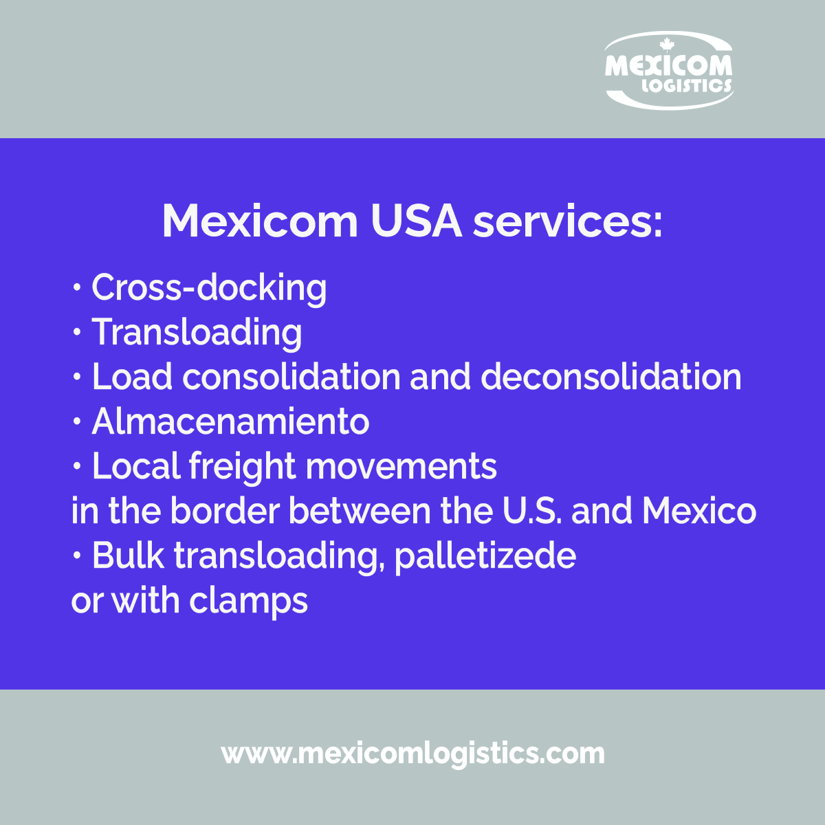 Warehousing and local movements in Laredo with Mexicom USA2
