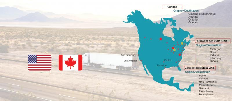 transport routier entre le Canada et les etats unis