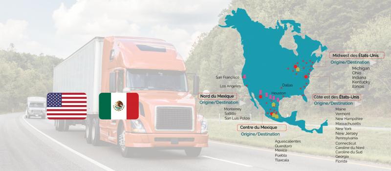 Services de transport routier entre les etats unis et le mexique