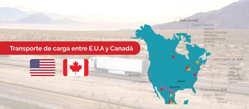 Transporte terrestre de carga entre Estados Unidos y Canadá